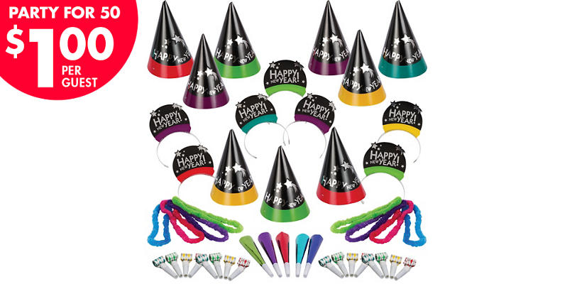 Kit For 50 - Simply Stated New Year's Party Kit