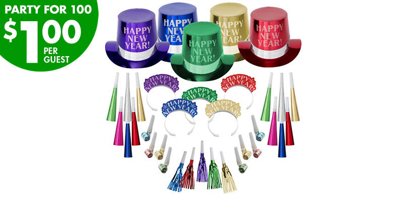 Kit For 100 - Colorful Opulent Affair New Year's Party Kit