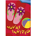 Fun in the Sun Flip Flop Invitations 8ct