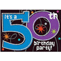 The Party Continues 50th Birthday Invitations 8ct