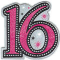 Sparkle Sweet 16 Plastic Cutout 15in