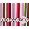 Pink Party Stripe Invitations 8ct