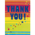 Party Splash Thank You Notes 8ct