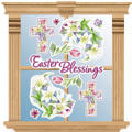 Vinyl Easter Blessings Window Decorations 10ct