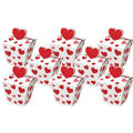 Red Hearts Favor Boxes 8ct