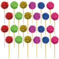 Jewel Tone Puff Picks 24ct