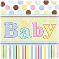 Tiny Bundle Baby Shower Dinner Plates 18ct