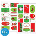 Holiday Fun Adhesive Gift Tags 100ct