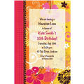 Tropical Heat Custom Invitation