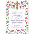 Custom Cross with Spring Flowers Invitations