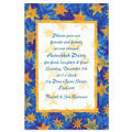Blue Starry Border Custom Invitation