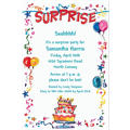 Surprise String Banner Custom Invitation
