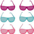 Pastel Slotted Glasses 6ct