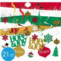 Holiday Joy Room Decorating Kit 21ct