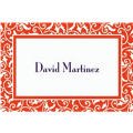 Orange Ornamental Scroll Custom Thank You Note