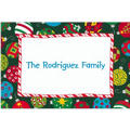 Colorful Tossed Ornaments Custom Christmas Thank You Note