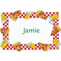 Pizza Party Border Custom Thank You Note