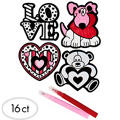 Valentines Day Fuzzy Art Sets 16ct