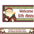 Cozy Santa Custom Christmas Banner