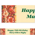 Classic Floral Red Custom Banner 6ft