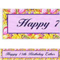 Tulips Custom Banner 6ft