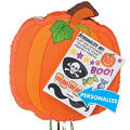 Pull String Personalized Pumpkin Pinata 17in