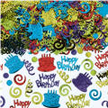 Happy Birthday Type Confetti 2 1/2oz