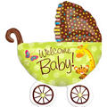 Foil Fisher Price Baby Buggy Balloon 28in x 31in