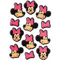Minnie Mouse Icing Decorations 12ct