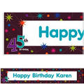 The Party Continues 45 Custom Banner 6ft