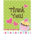 Cupcake Party Thank You Notes 8ct