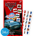 Deluxe Cars 2 Valentines Day Cards with Tattoos 34ct