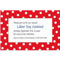 Red Polka Dot Custom Invitation