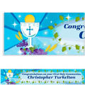 Blue First Communion Custom Banner 6ft