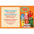Yo Gabba Gabba Custom Invitation