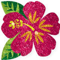 Glitter Hibiscus Flower Body Jewelry