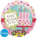 Foil Sweet Stuff Happy Birthday Singing Balloon 28in