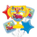 1st Birthday Cars Balloon Bouquet 5pc