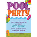Custom Pool Party! Invitations