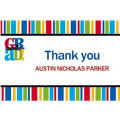 Bravo Graduation Stripe Custom Thank You Notes