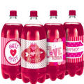 Valentines Day Bottle Labels 4ct