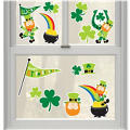 Leprechauns Vinyl Window Decorations 13ct