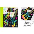 Neon Scribble Invitations 8ct