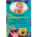 Sponge Bob Classic Custom Photo Invitation