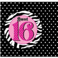 Super Stylish Sweet 16 Invitations 8ct