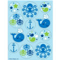 Ocean Preppy Stickers 4 Sheets