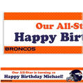 Custom Denver Broncos Banner 6ft