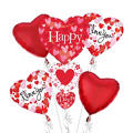 Foil Stacker Valentines Day Balloon Bouquet 5pc