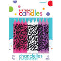 Animal Print Birthday Candles 2in 10ct