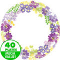 Floral Bloom Dinner Plates 40ct